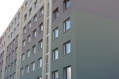 Zateplenie fasády a plochej strechy , rekonštrukcia balkónov Bánovce nad Bebravou Mojimírova 2013